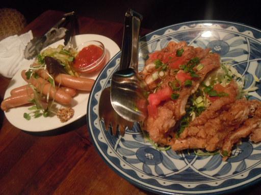 ボイルソーセージウインナー風と鶏肉の南蛮揚げ