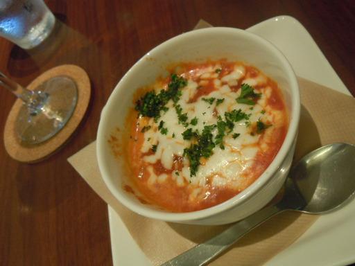 オイルサーディンとモッツァレラのトマトクリームグラタン