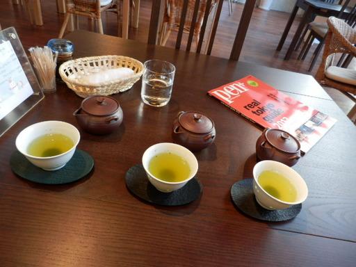 鹿児島のお茶飲み比べ