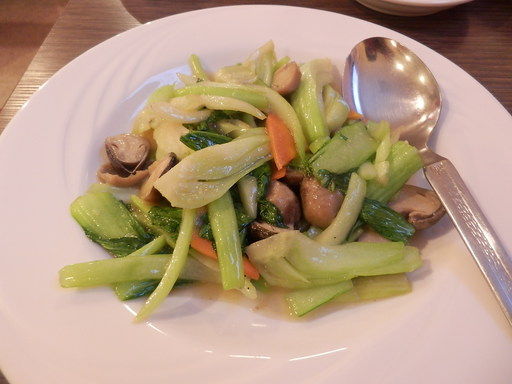 袋茸と青梗菜の炒め